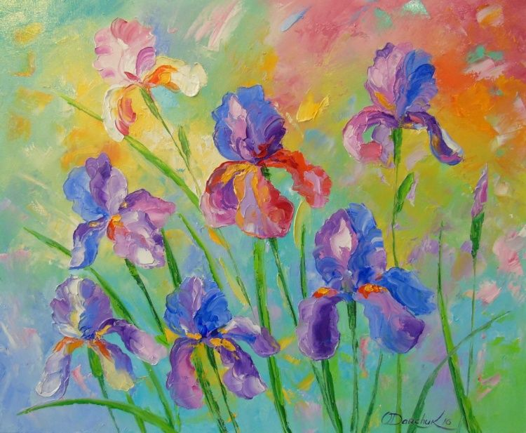 Irises (2016) Oil painting by Olha Darchuk | Artfinder