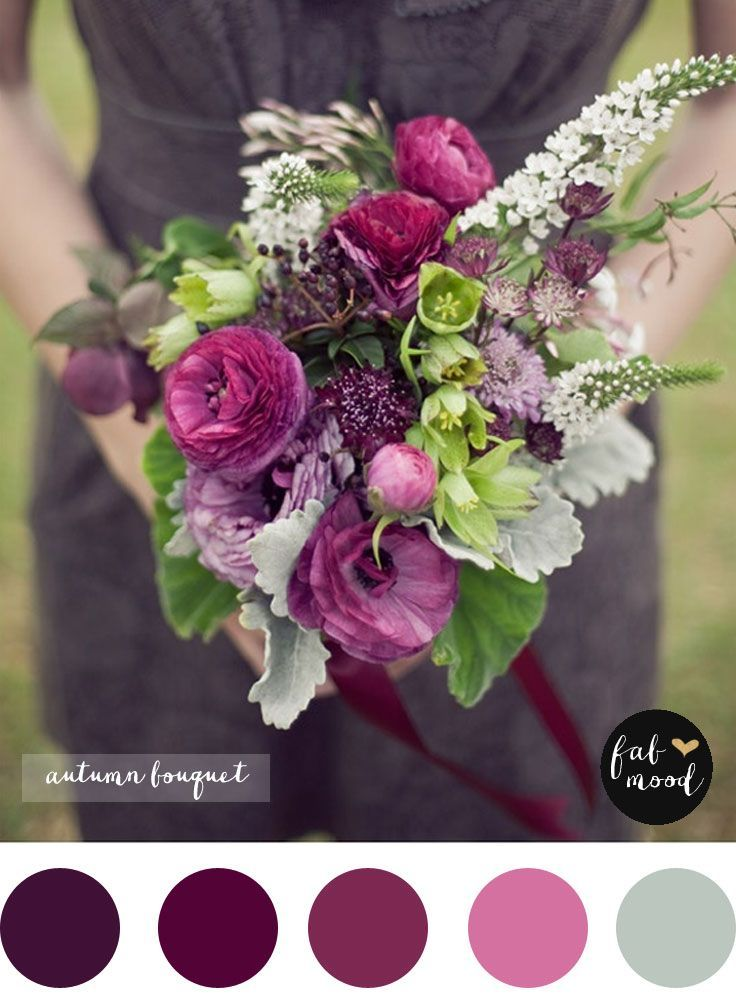 Magnificent Autumn Wedding Bouquets Purple Wedding Bouquets
