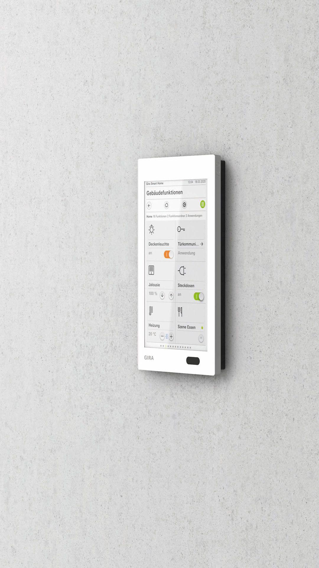 Intuitive Smart Home Steuerung Mit Dem Gira G1 In 2020 Intelligentes Haus Schalter Bewegungssensor