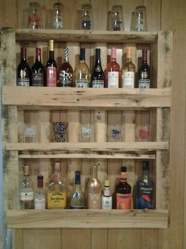 Liquer Wine Cabinet Rustic Small Spaces Pallet Pallet