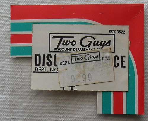two guys department store | 1960s TWO GUYS 1970s vintage department store price tags by Christian ...