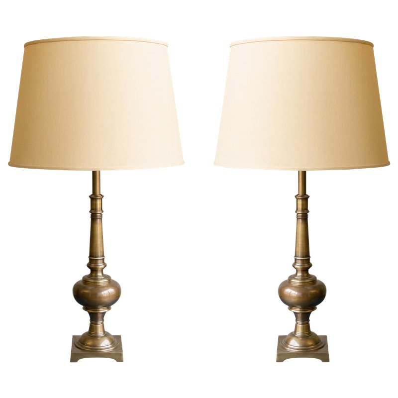 Pair Of 1940s Bronze Plated Table Lamps Table Lamp Brass Table Lamps Bronze