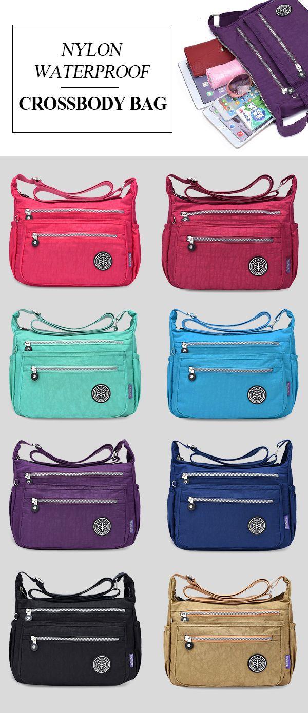 5dfebec371dc    15.53  Jinqiaoer Nylon Waterproof Lightweight Crossbody Bag Shoulder Bag  Portable Travel Bag For Women