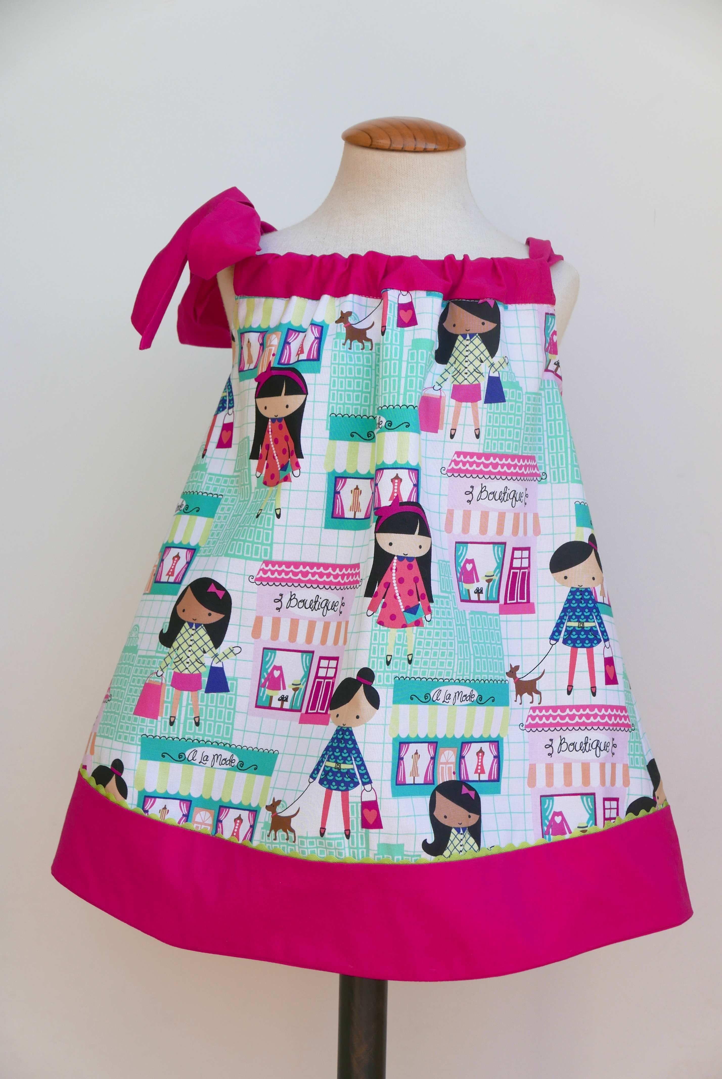 Patrón PDF para vestido Pillowcase niña | vestiditos | Pinterest