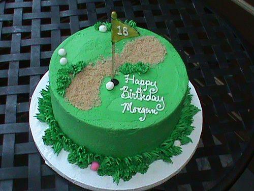 Groovy 18Th Birthday Golf Theme Cake1 Golf Birthday Cakes Golf Themed Funny Birthday Cards Online Eattedamsfinfo