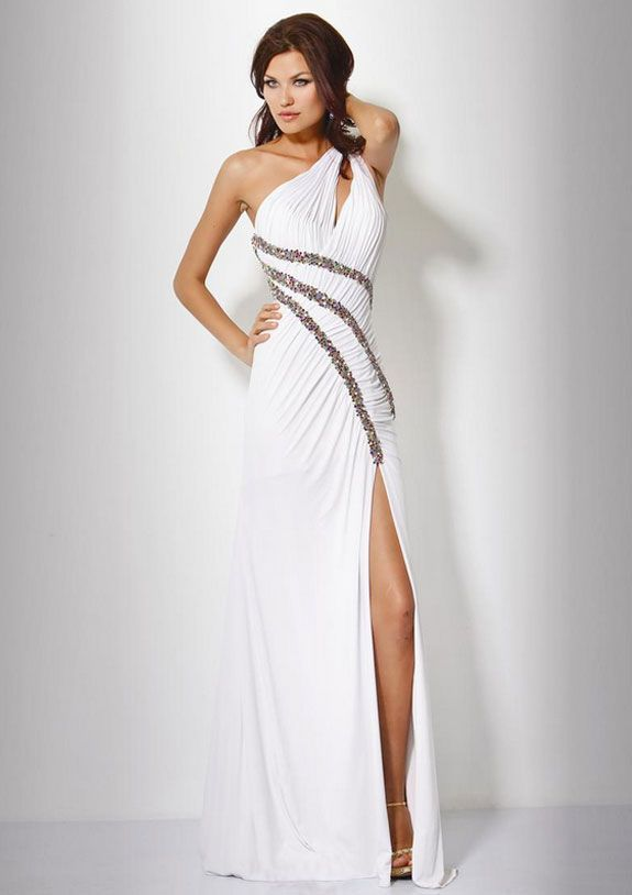 Right Shoulder Prom Dress