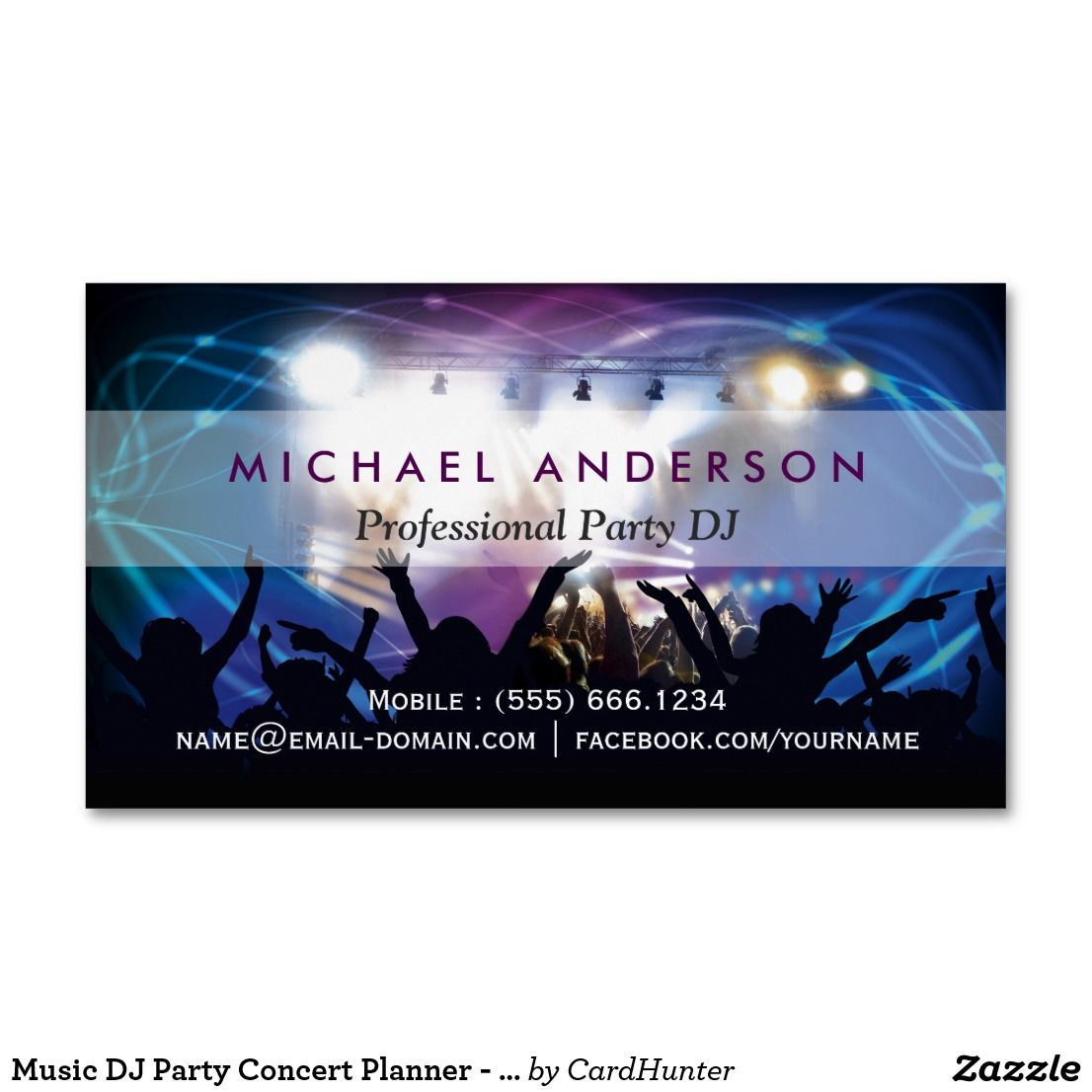 Music dj party concert planner modern stylish magnetic business music dj party concert planner modern stylish magnetic business card reheart Image collections