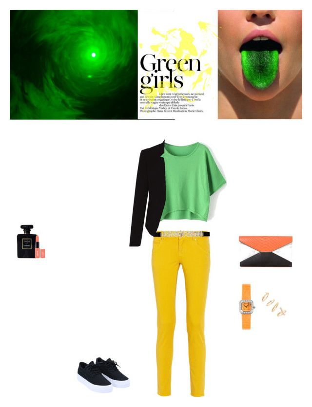 """""""colourfull mind"""" by natia-22 ❤ liked on Polyvore featuring Green Girls, M Missoni, City Chic, Corum, BP. and Chanel"""