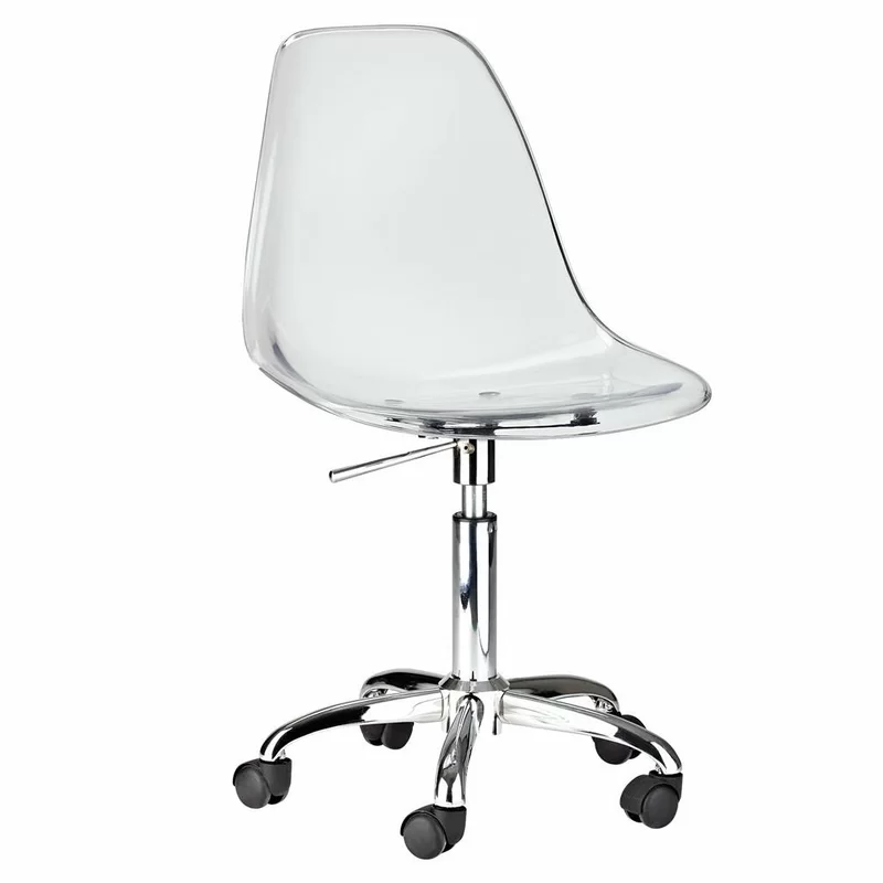 Davian Task Chair In 2020 Clear Desk Chair Acrylic Desk Chair Clear Chairs
