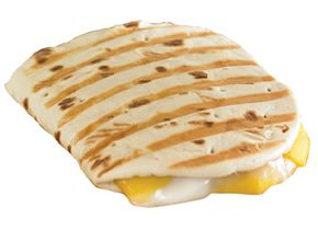 """This is my new FAVORITE!!  Flatout brand """"foldables"""".  Throw some turkey on this sandwich and put on your George Foreman grill for about 3minutes...Top with dill pickles, roasted redpeppers, banana peppers...You name it!!  Only about 160 total calories per sandwich depending on your cheese."""