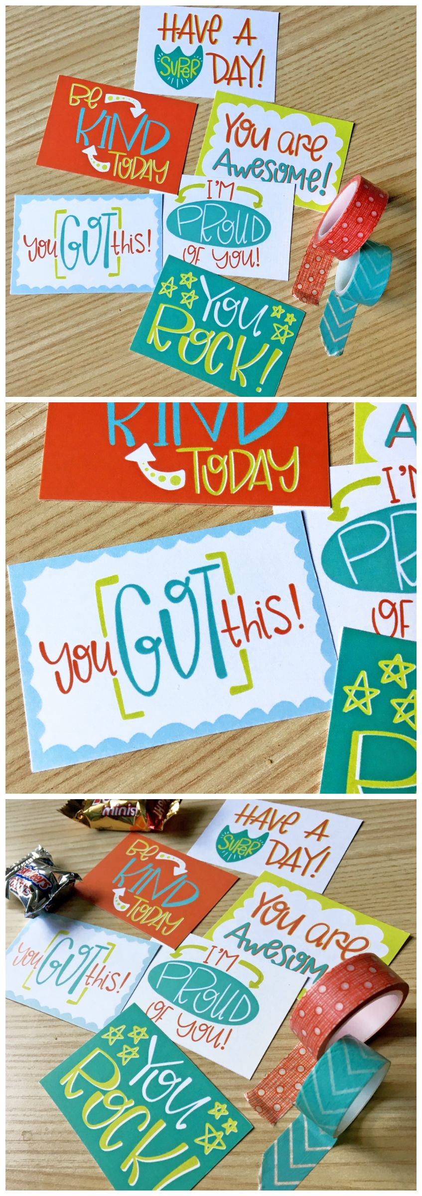 Free Printable Lunch Box Notes   These lunchbox notes have encouraging messages on them in bright happy colors!
