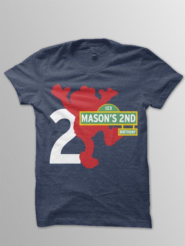 Elmo Birthday Shirt Toddler Sesame Street 2nd