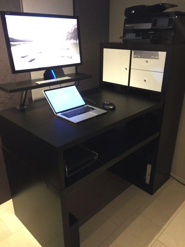 KALLAX standing desk IKEA Hackers IKEA Hacks Pinterest