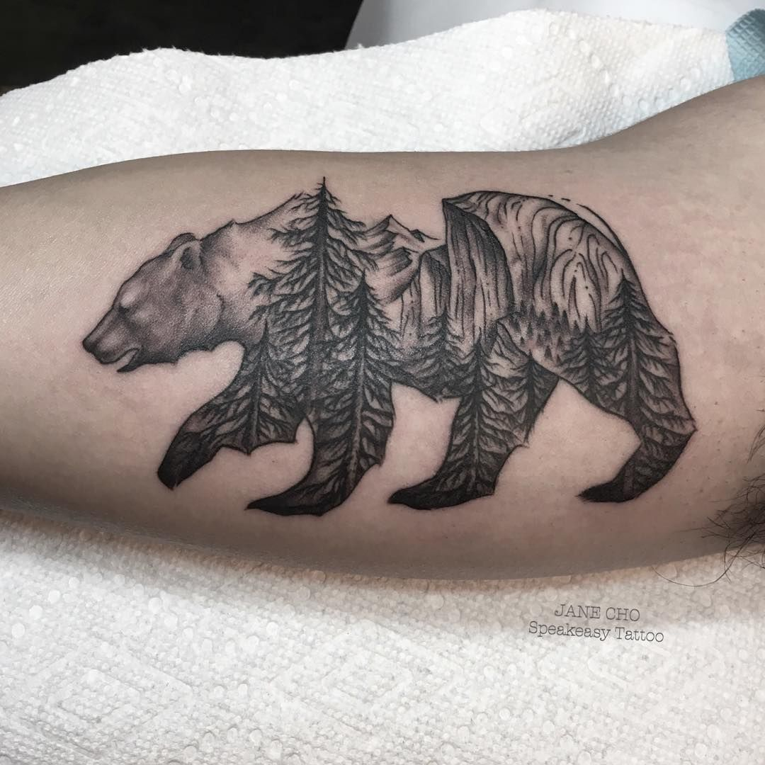 Trees And California Bear Tattoo Exploring Mars