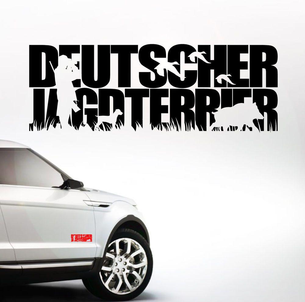 Auto Aufkleber Deutscher Jagdterrier Jagdhund Jäger Hunde