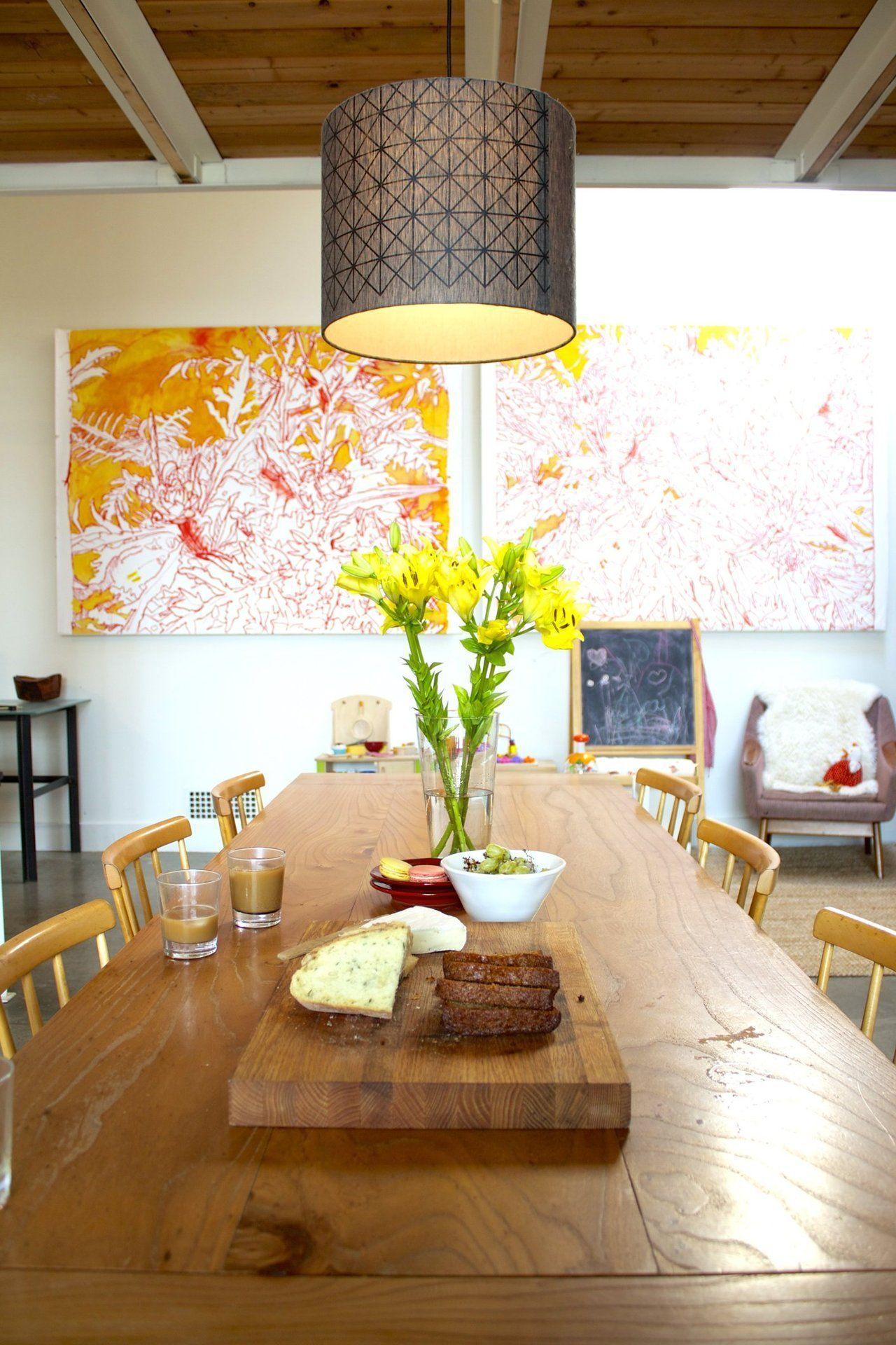 Living Room Sketch: Isabelle & Nick's Refurbished Warehouse