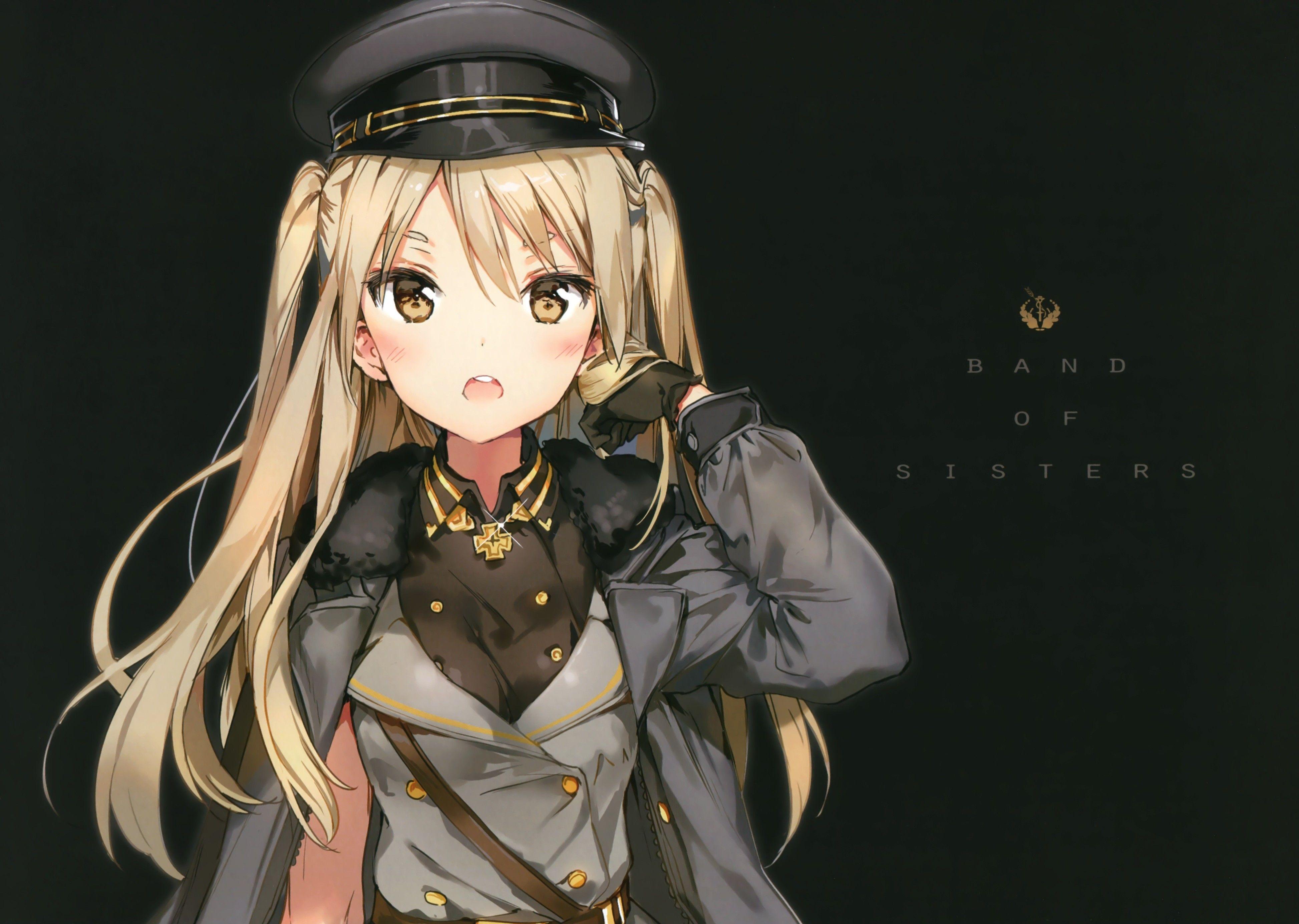 Anime 3893x2769 Anime Anime Girls Uniform Long Hair Blonde Yellow Eyes Ragazza Anime Ragazze Anime Anime