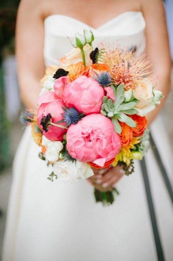 Cebolla Fine Flowers Dallas Florist Wedding Rustic Orange Bridal