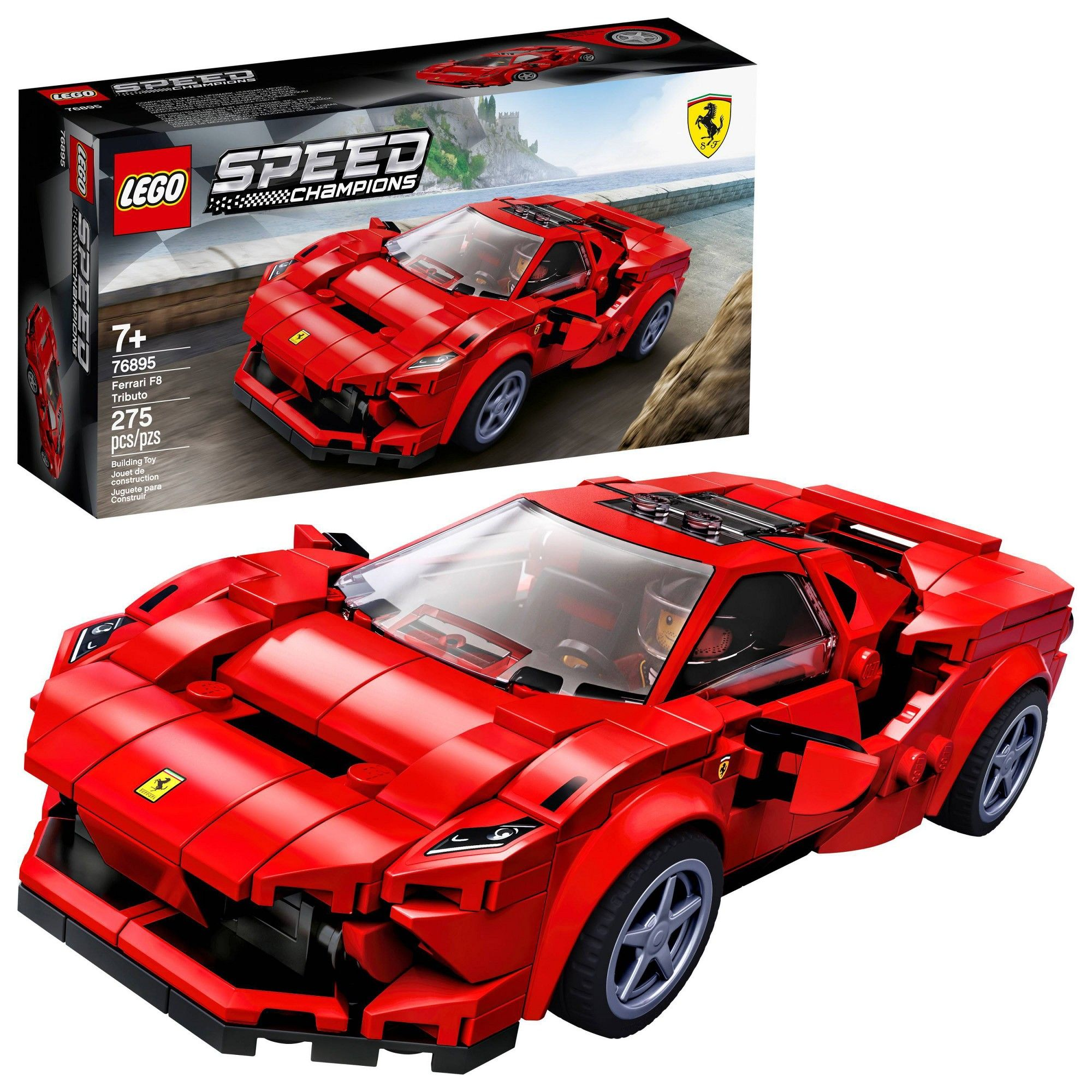 Lego Speed Champions Ferrari F8 Tributo Toy Cars Building Kit 76895 In 2020 Lego Speed Champions Toy Cars For Kids Model Cars Kits
