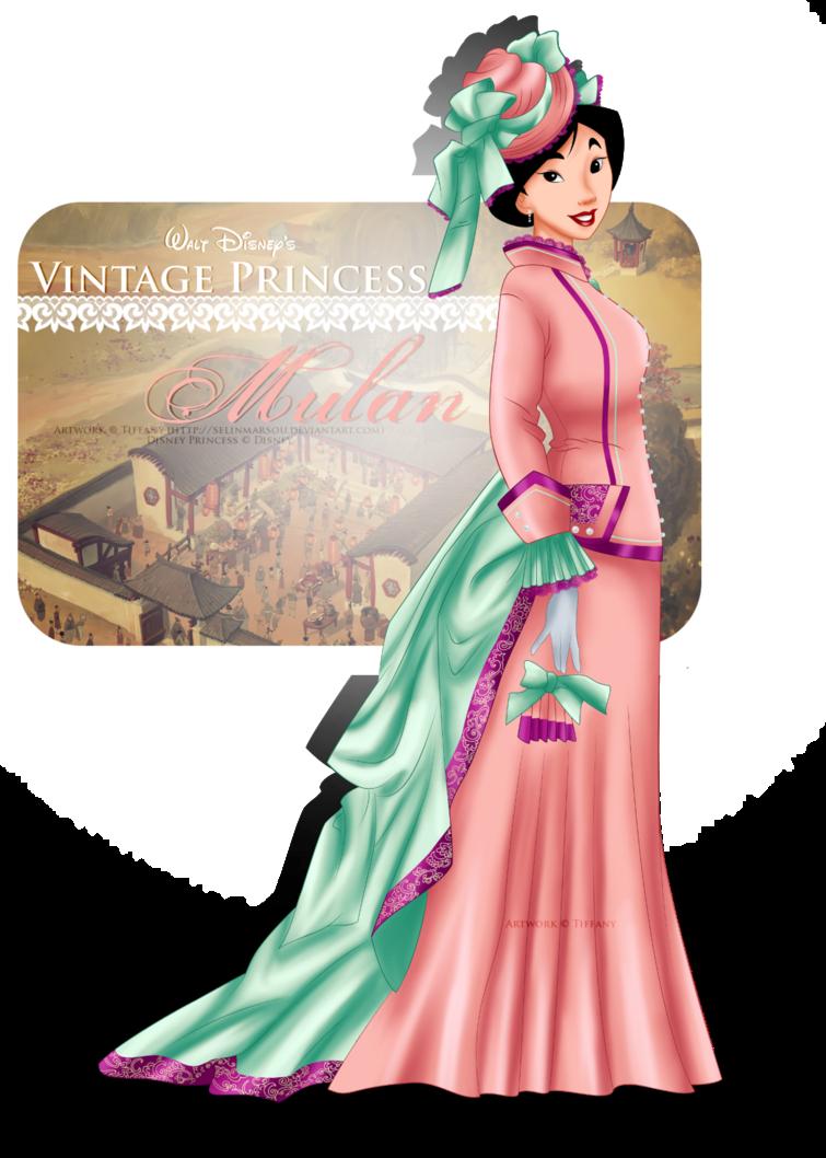 Vintage Princess - Mulan by selinmarsou, Walt Disney movie animation, art