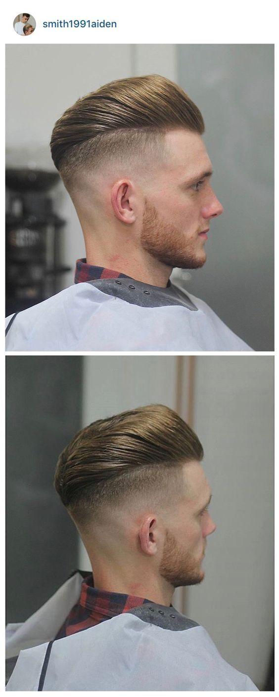 Men's pompadour haircut fetish barber  corte de pelo  pinterest  haircuts hair style and