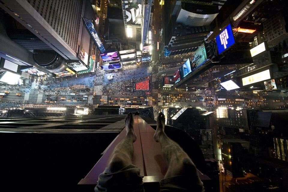 Times Square from above