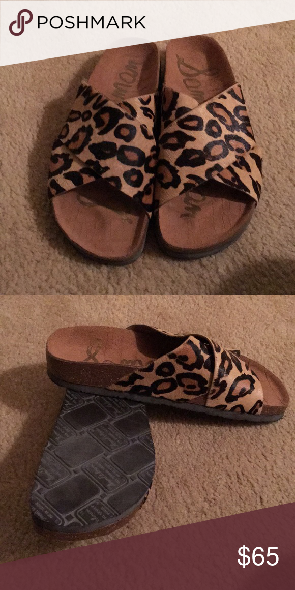 03e84508bbca5 Sam Edelman Slides These slides are sand leopard brahma hair. Brand new! Sam  Edelman Shoes Sandals