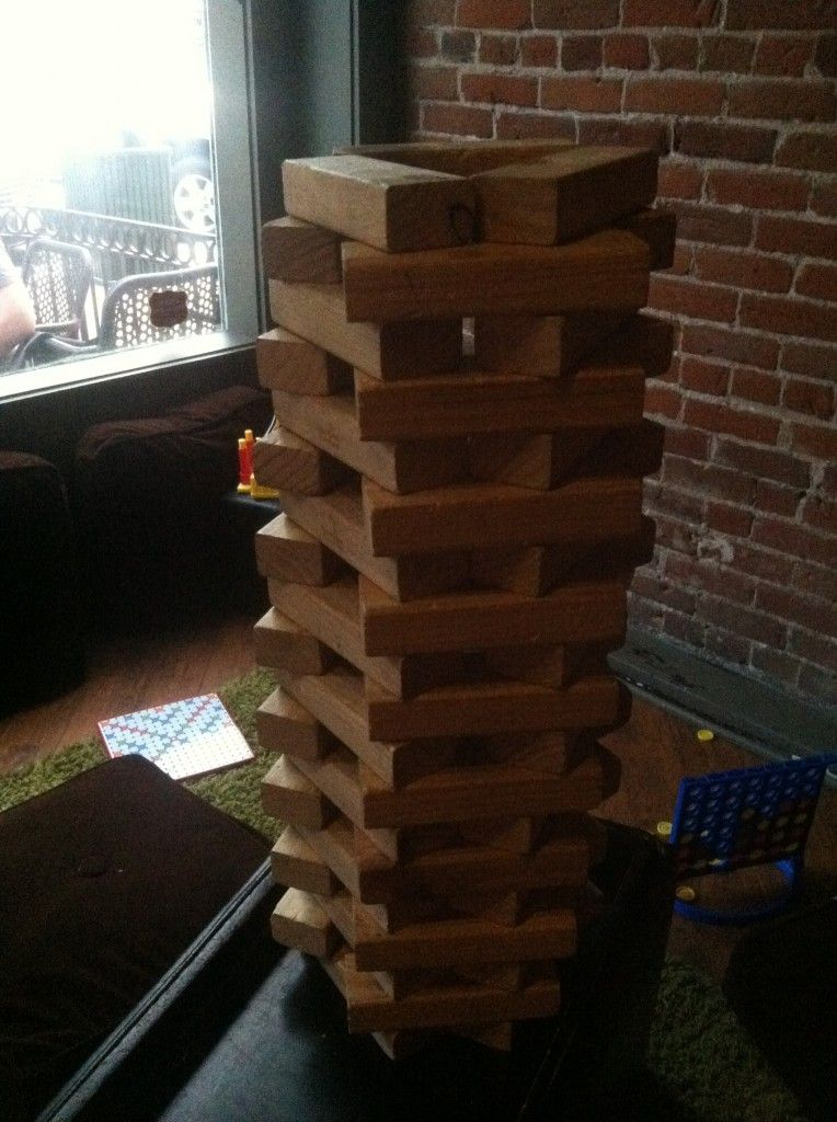 Bar Jenga Game. | Giant jenga, Jenga game, Jenga