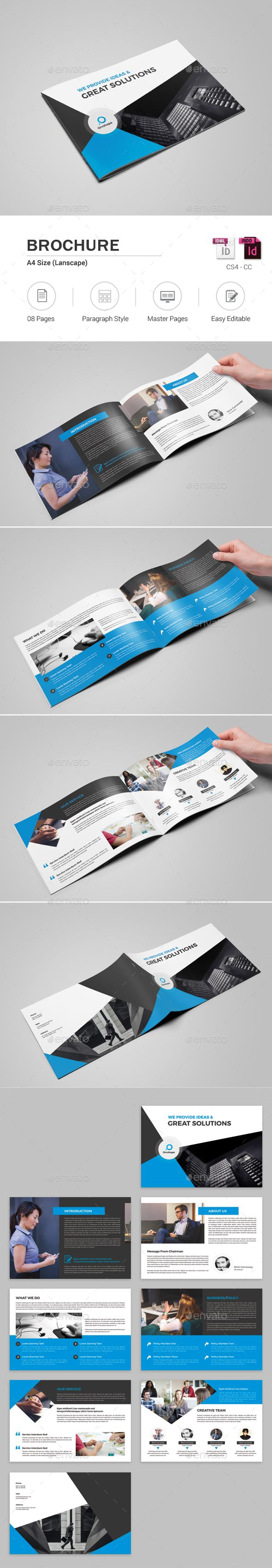 Pages Landscape Brochure  Brochures Brochure Template And