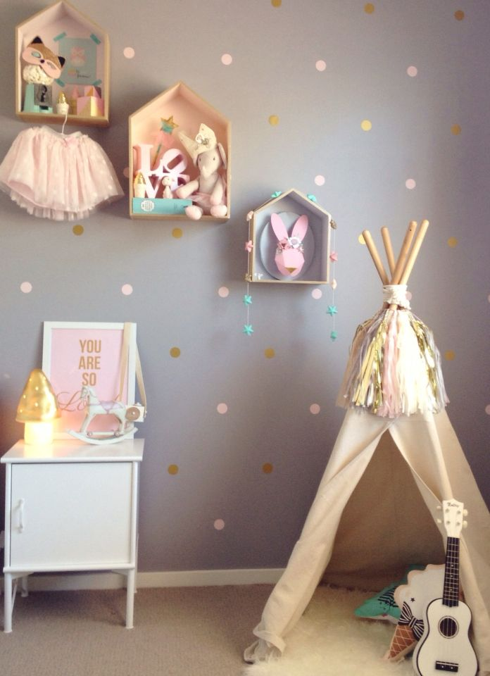 Pretty pastel girly bedroom Styled by Indigo & the baby to be