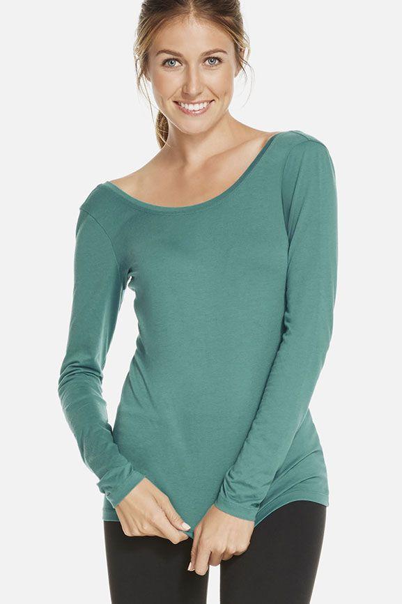 Aurora Longsleeve Tee camiseta suave y agradable para hacer deporte.
