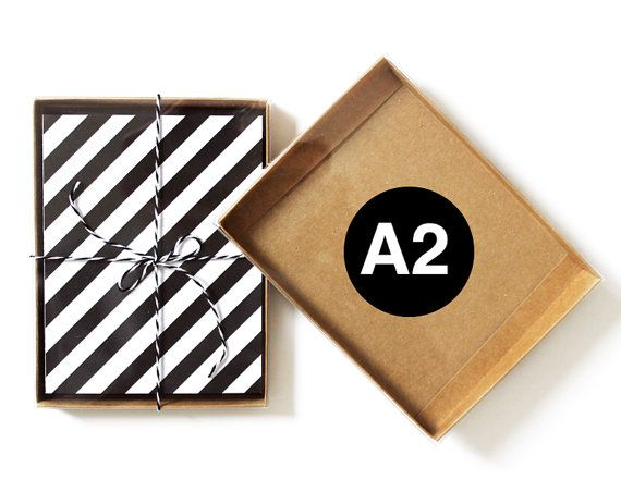 10 - A2 - Kraft Greeting Card Boxes with Clear Top Lid / Box Lids ...