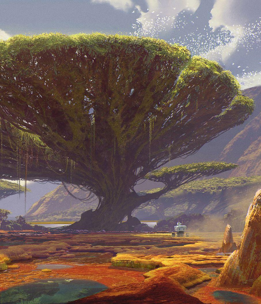 New Earth Vista By Sung Choi Arte Da Paisagem Paisagem 400 x 300
