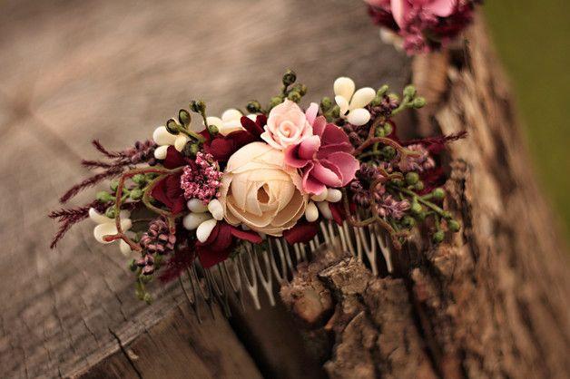 Blumen Haarkamm Hochzeit Haarkamm