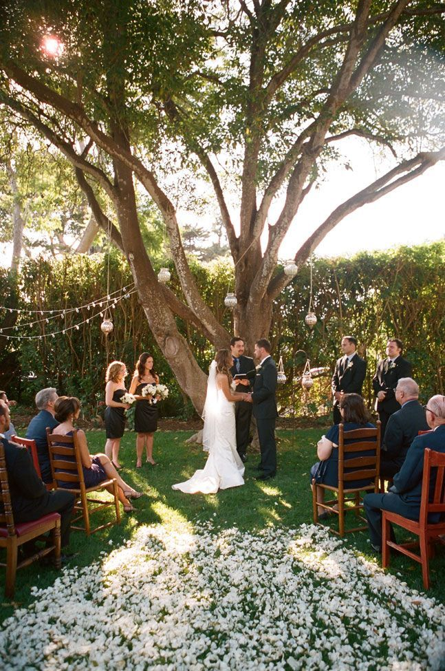 And Intimate Backyard Wedding Ceremony Ideas