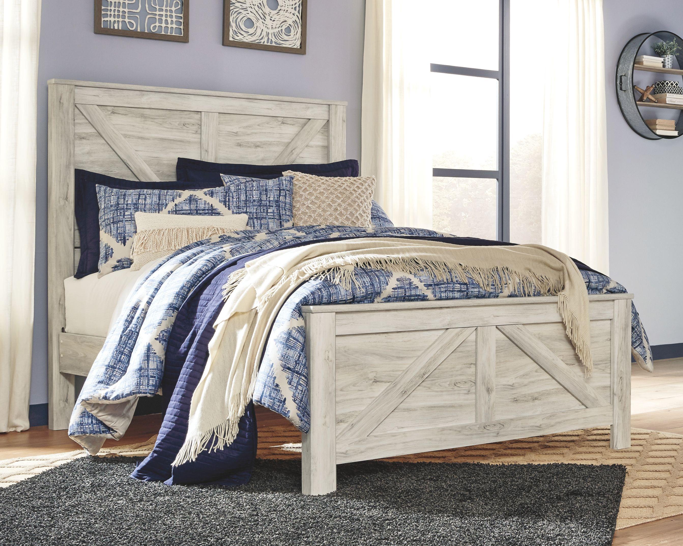 Bellaby Queen Crossbuck Panel Bed, Whitewash in 2020