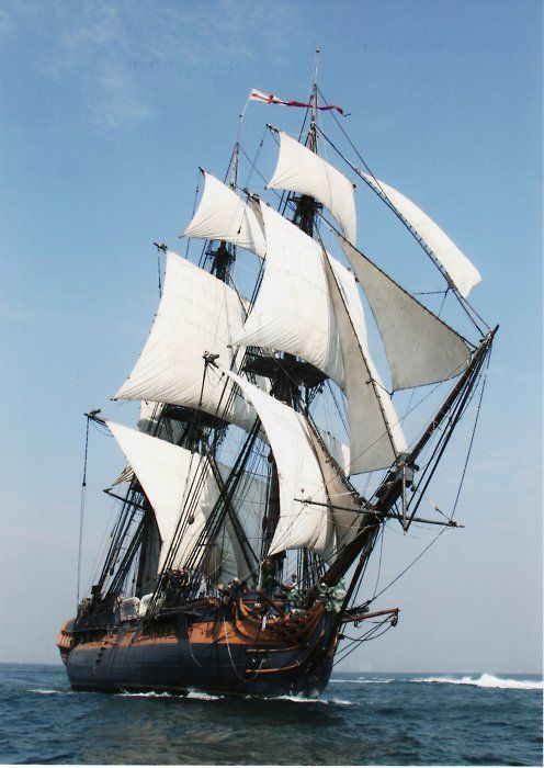 """H.M.S. Surprise has become famous as the 18th-century tall ship portrayed in the movie """"Master and Commander: The Far Side of the World,"""" starring Russell Crowe. The ship used in the Academy Award-winning film is actually a modern tall ship – a magnificent replica of a 24-gun Royal Navy frigate."""