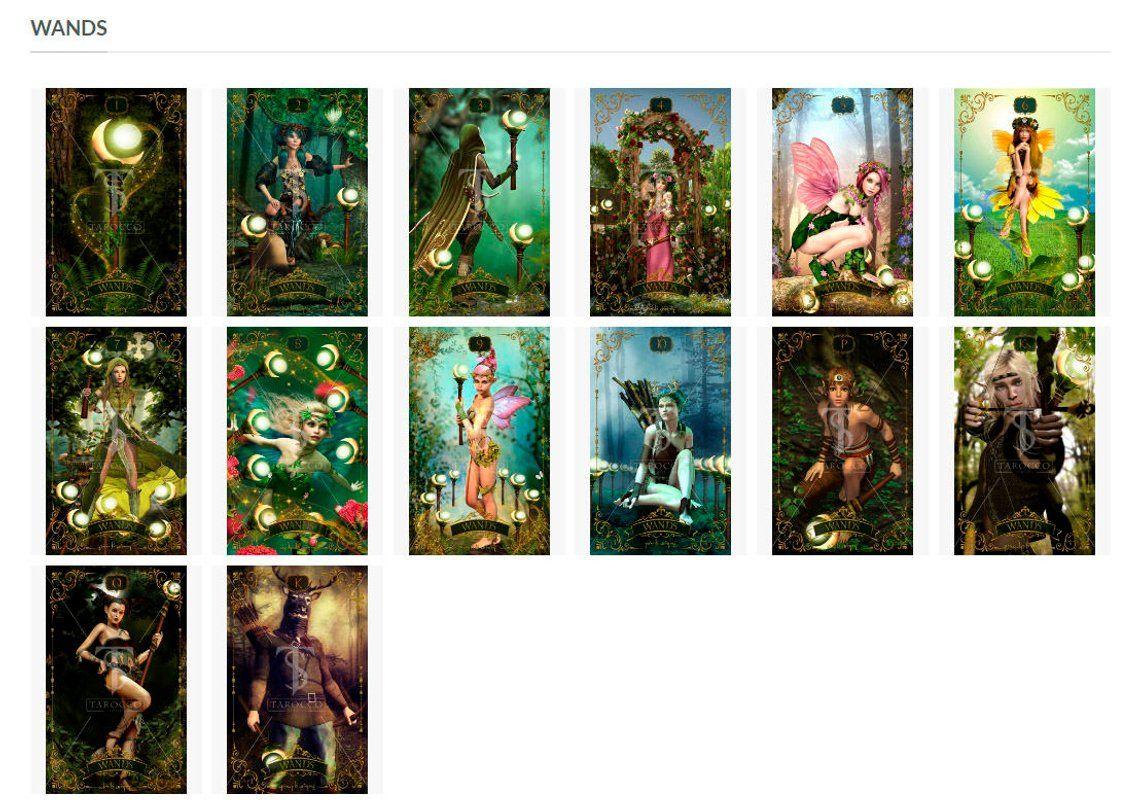 Forest creatures tarot deck mini version forest
