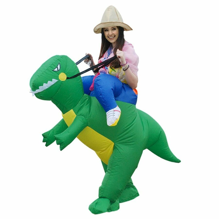 Kids and Adult Ride On T-Rex-Dinosaur Costume Fancy Dress Cospaly Carry Costume