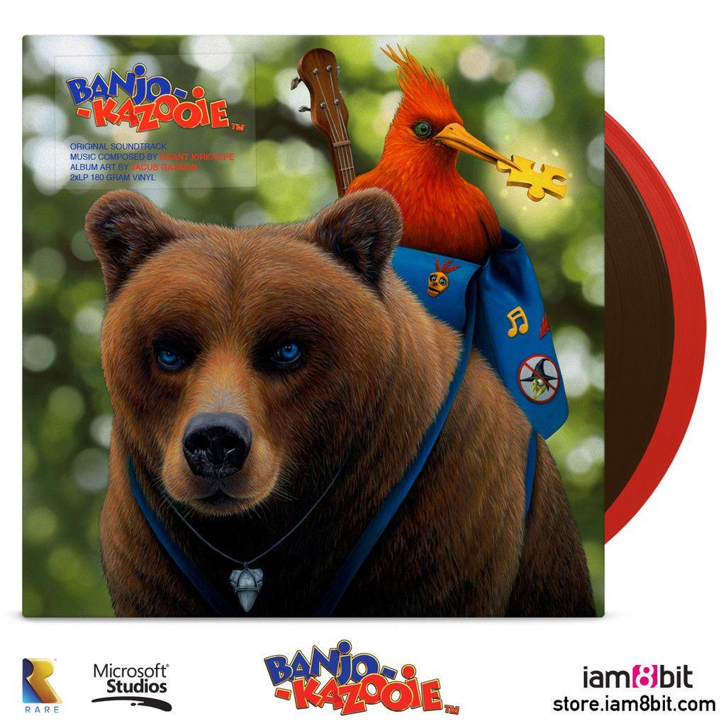 Banjo And Kazooie Vinyl Soundtrack 2xlp Banjo Banjo Kazooie Album Art