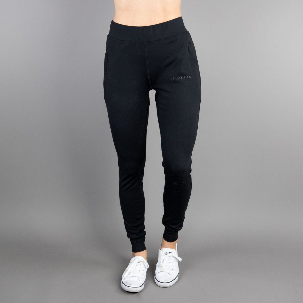 5b6e54c0009a7 Women s Premium Joggers - Black – Alphalete Athletics