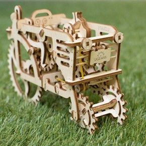 Wooden Toys – Tractor - wooden toy mechanical construction kit – a unique…