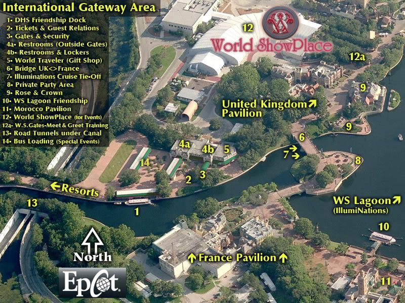 California Map Disney%0A Epcot International Gateway Entrance Area Map by Robo on the DisBoards