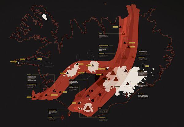 Plus minus century: Volcanic activity in Iceland by Jóhann Geir Úlfarsson, via Behance