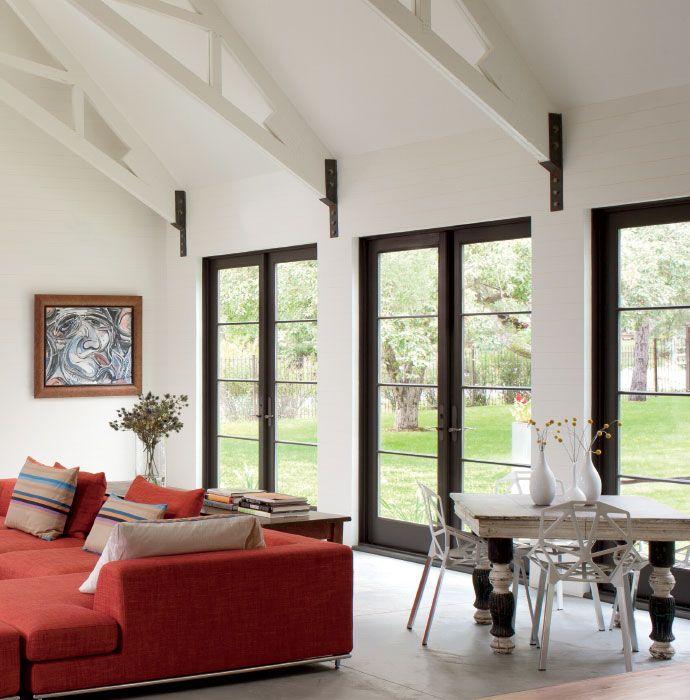 Contemporary Contemporary Windows Modern White Living Room Contemporary Windows And Doors