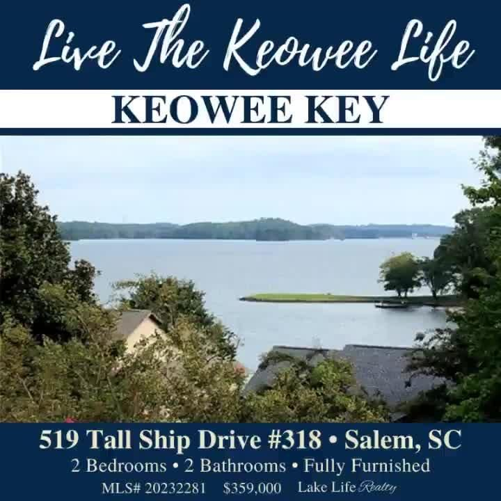 Live the Keowee Life in the amenity rich community of Keowee Key! ⛵ ⛳ 🏊 🚲 Wonderful opportunity to own an immaculate condo with stunning views of Lake Keowee. This 2 bedroom, 2 bathroom Tall Ship condo (with just under 1500 Sq Ft) is situated on the top floor, giving you a private, penthouse suite. Ready to make a move? Visit WeSellTheLakes.com to get started! #LakeLifeRealty #RealEstate #SC #OconeeCounty #ThinkOconee #Salem #KeoweeKey #LakeKeowee #KeoweeLife #LakeLife #LoveWhereYouLive