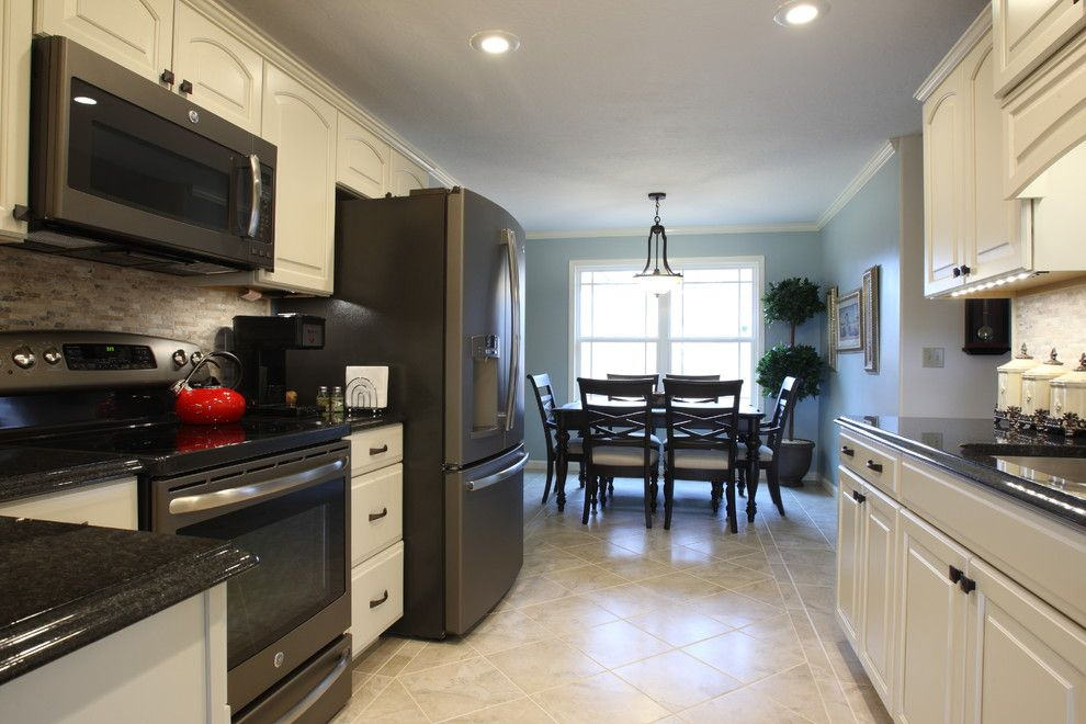 Ge Slate Appliances Kitchen Transitional With Stainless Steel Nbsp