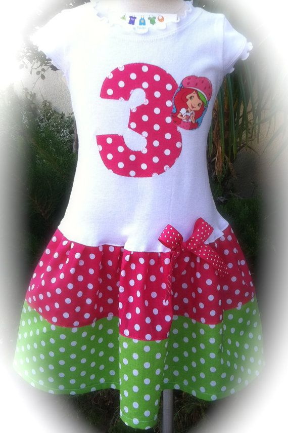 fe3d4a7592d9 Hot Pink Strawberry Shortcake Dress. Available in 6-9 months through ...