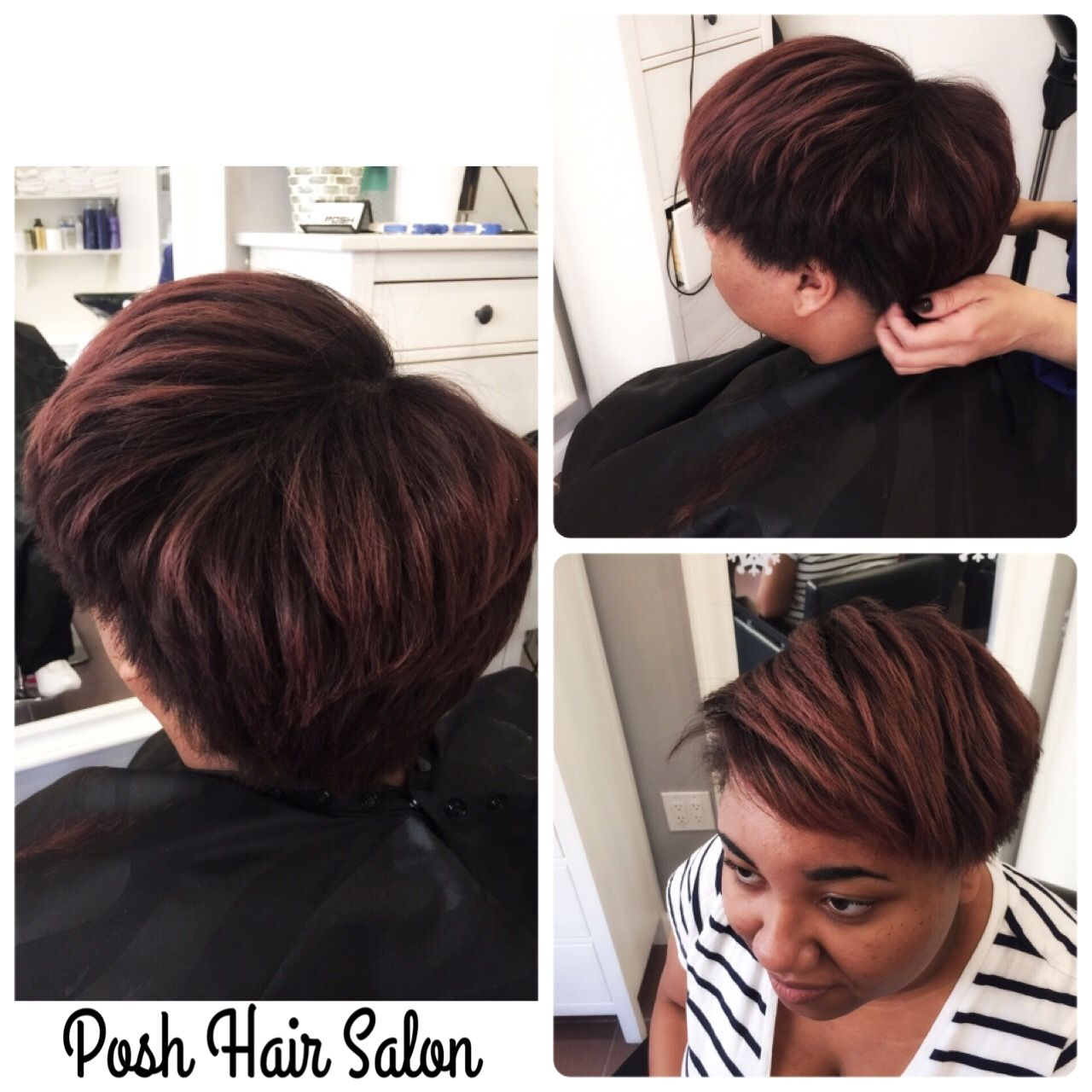 Relaxer Haircut And Haircolor At Posh Posh Hair Salon Nyc