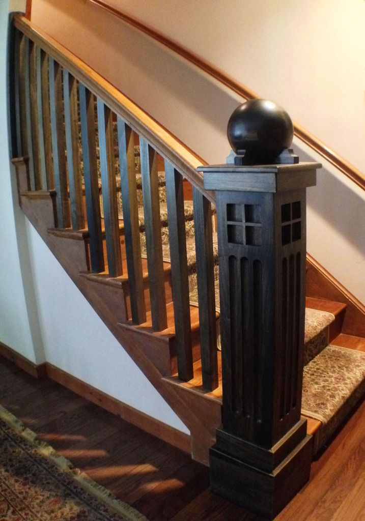 Best Arts And Crafts Newel Post Don T Like The Ball On The 400 x 300